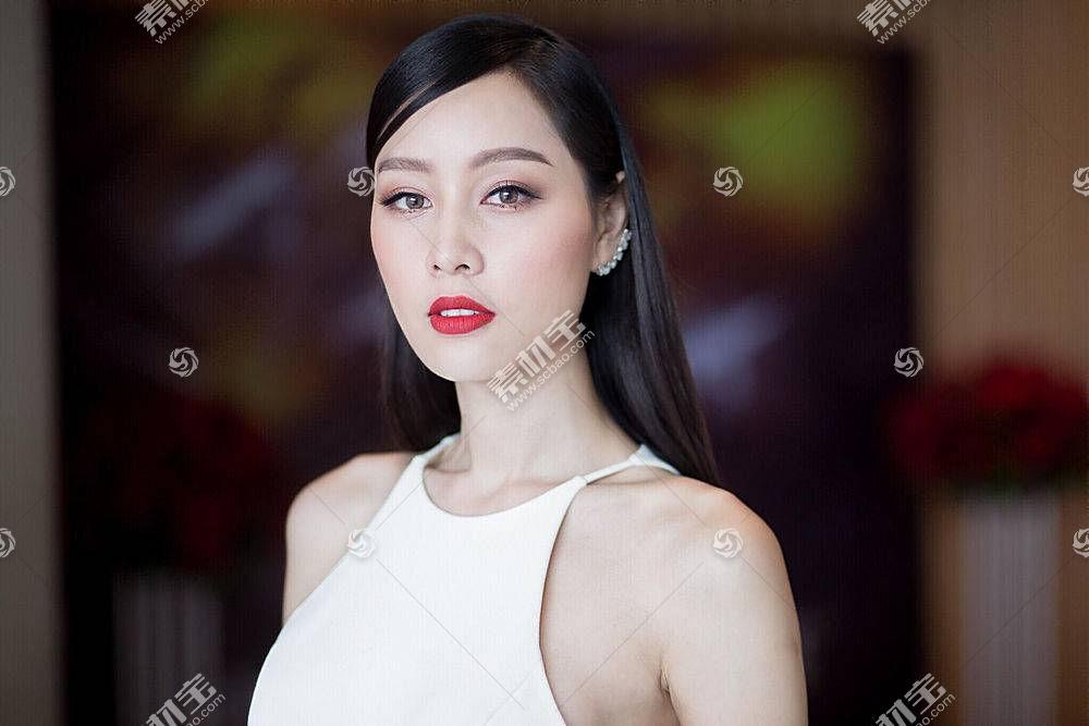 女人,亚洲的,女孩,妇女,模特,口红,黑色,头发,壁纸,