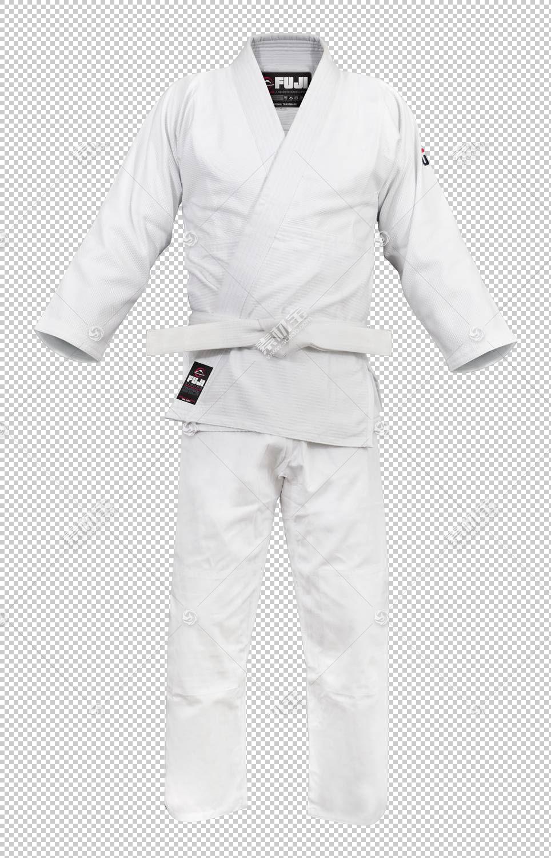Judogi dobok,长袍,服装,服装,睡衣,运动服,套筒,Dobok,皮带,白色