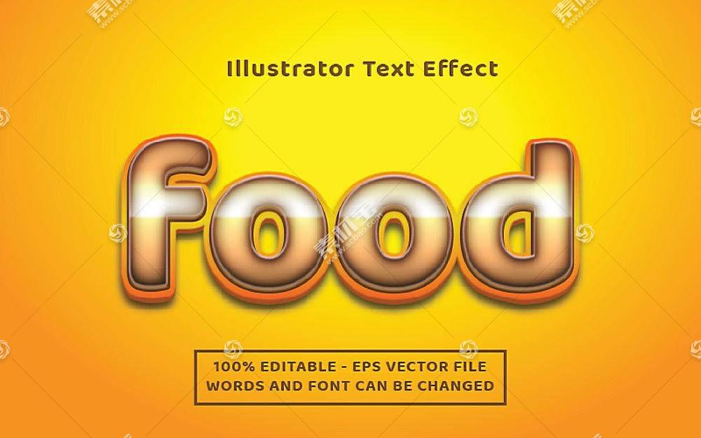 可编辑的字体效果图片集插图设计