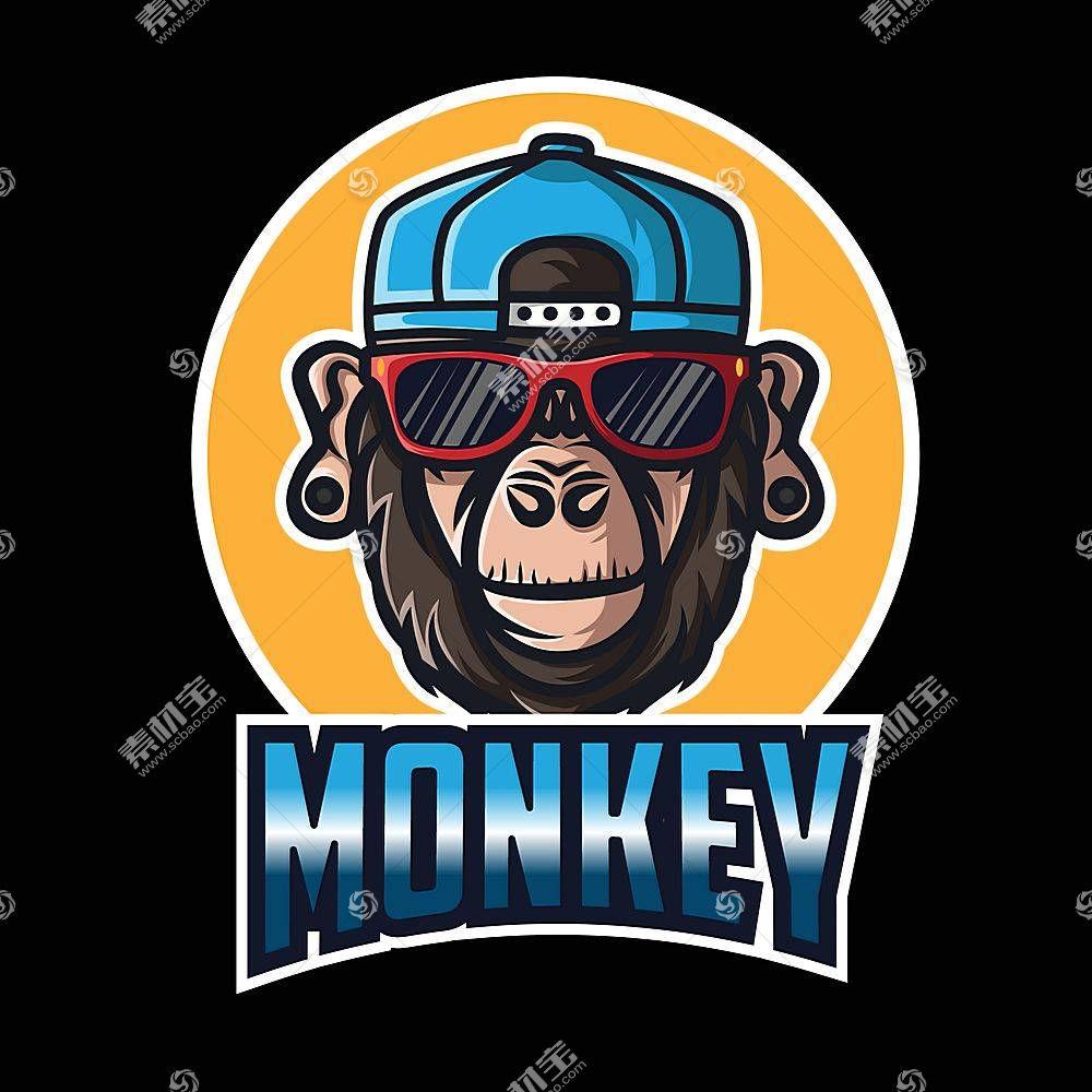 猴子标识设计