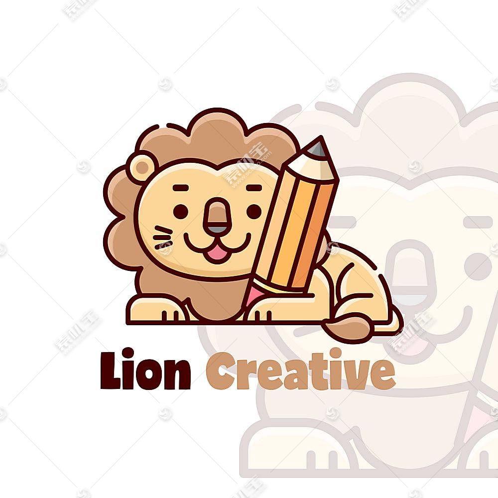 狮子文具标识