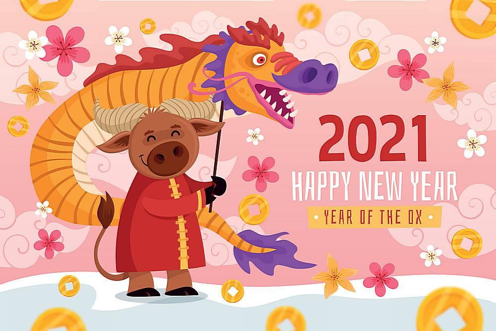 创意2021牛年海报