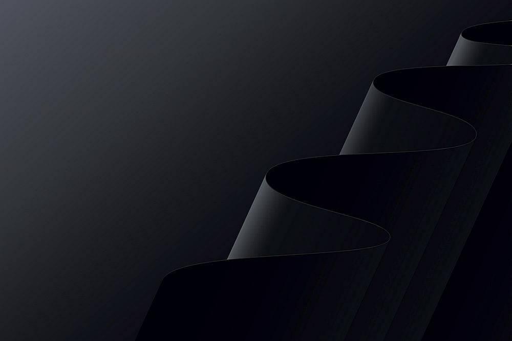 黑色波浪形背景_12628437