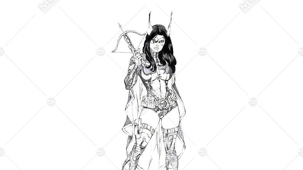 漫画壁纸,x战警,女猎手,壁纸