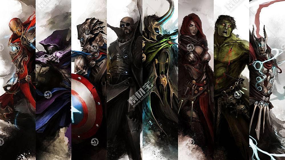 漫画壁纸,这,复仇者联盟,熨斗,男人,鹰眼,船长,美国,缺口,狂怒,洛