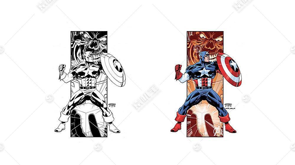 漫画壁纸,船长,美国,壁纸(21)