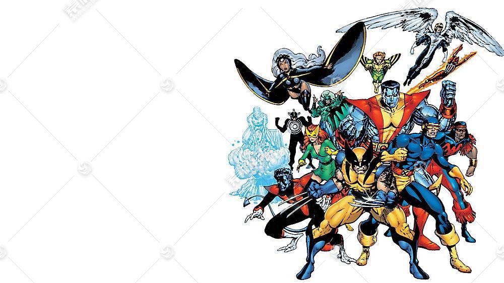 漫画壁纸,x战警,独眼巨人,金刚狼,蓝魔人,壁纸
