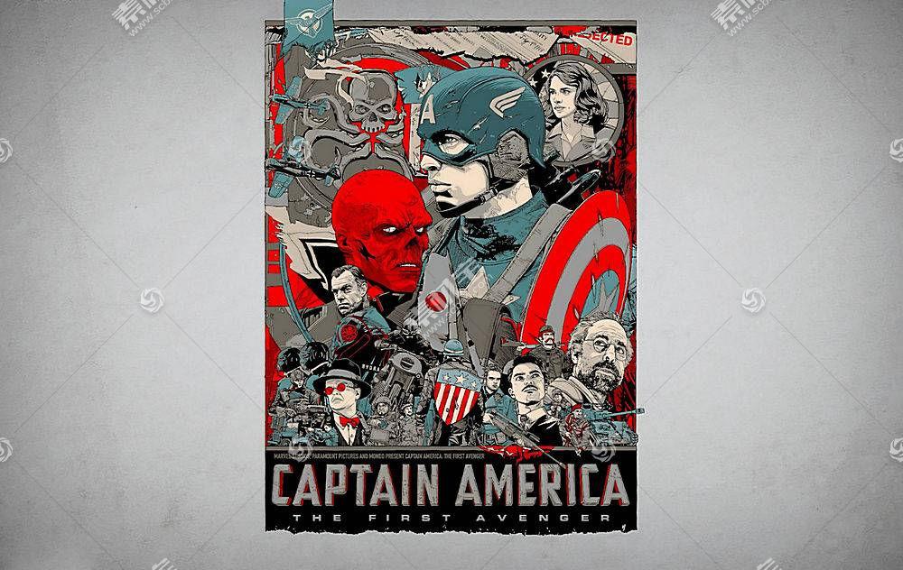 漫画壁纸,船长,美国,红色,头盖骨,壁纸(1)