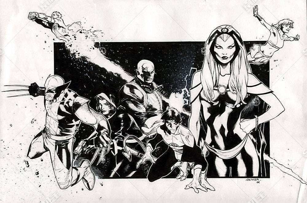 漫画壁纸,x战警,金刚狼,蓝魔人,壁纸(1)