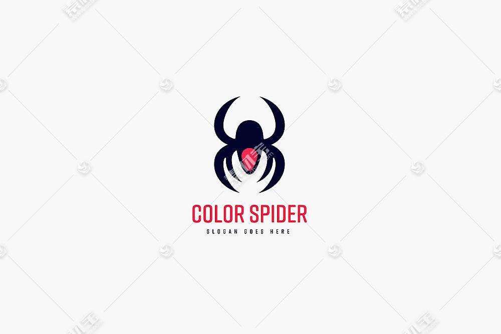 蜘蛛形象创意商业Logo设计模板