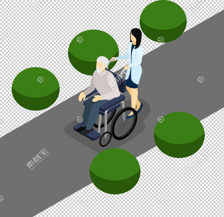 轮椅残疾老年人,轮椅老人PNG剪贴画海报,生日快乐矢量图像,草,卡