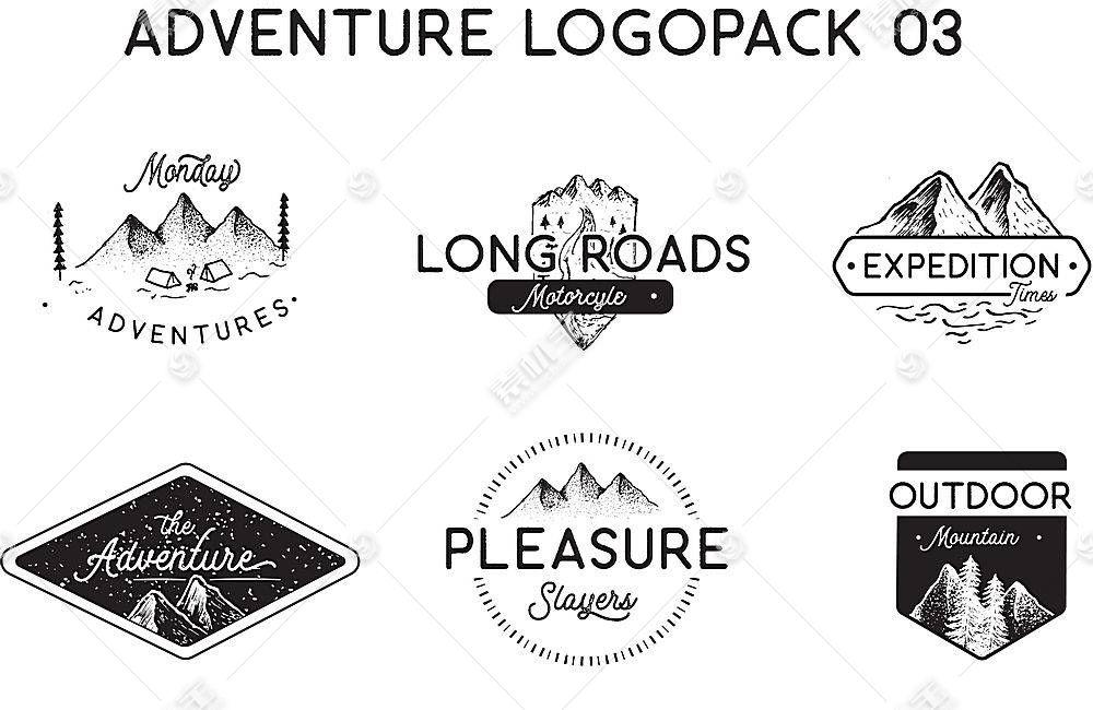创意山脉形象创意标签LOGO设计