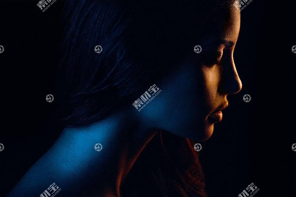 女人,脸,妇女,女孩,黑暗,轮廓,壁纸,