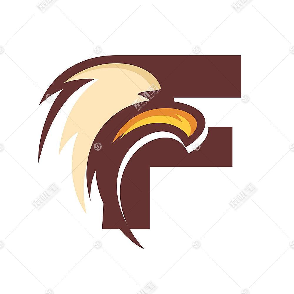 鹰字母形象创意LOGO设计