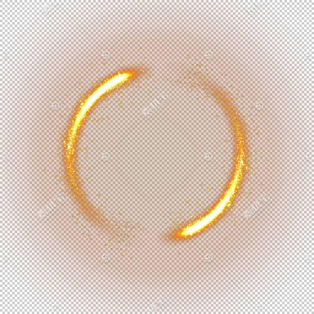 光,黄色光效材料,光圈火花PNG剪贴画橙色,路灯,灯光效果,游戏设计图片