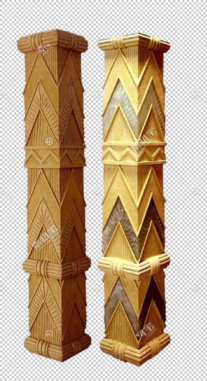 列雕塑石头装饰艺术幕墙,方形装饰柱PNG剪贴画角,装饰,装饰,石雕,