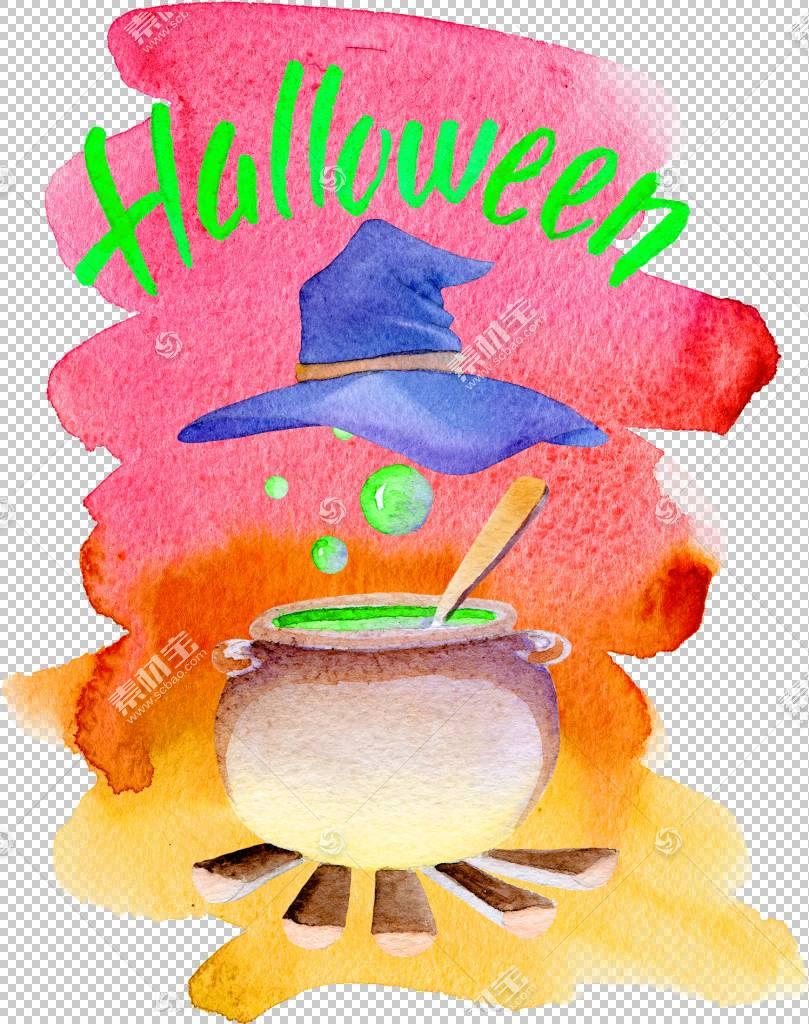 万圣节PNG剪贴画墨水,万圣节快乐,食品,节日元素,涂鸦,水果,材料,