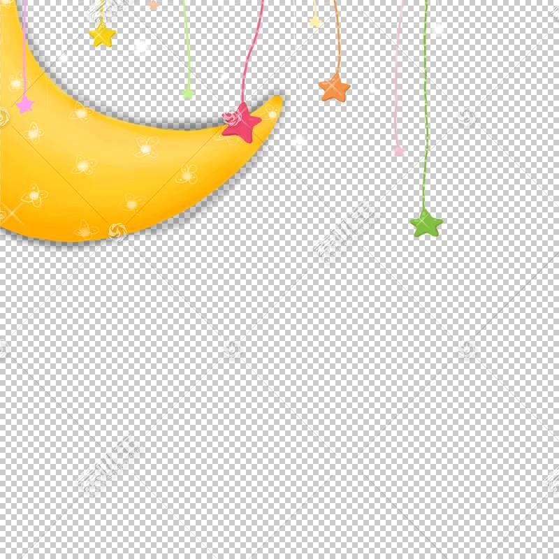 Moon Star PNG剪贴画文本,矩形,节日元素,橙色,电脑壁纸,卡通,封