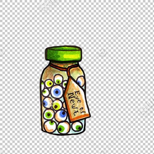 万圣节插图,万圣节PNG剪贴画玻璃,化学元素,万圣节快乐,节日元素,