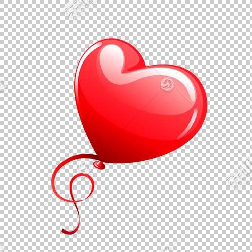 心形气球,气球PNG剪贴画爱情,缎带,摄影,节日元素,心,七夕节,红色