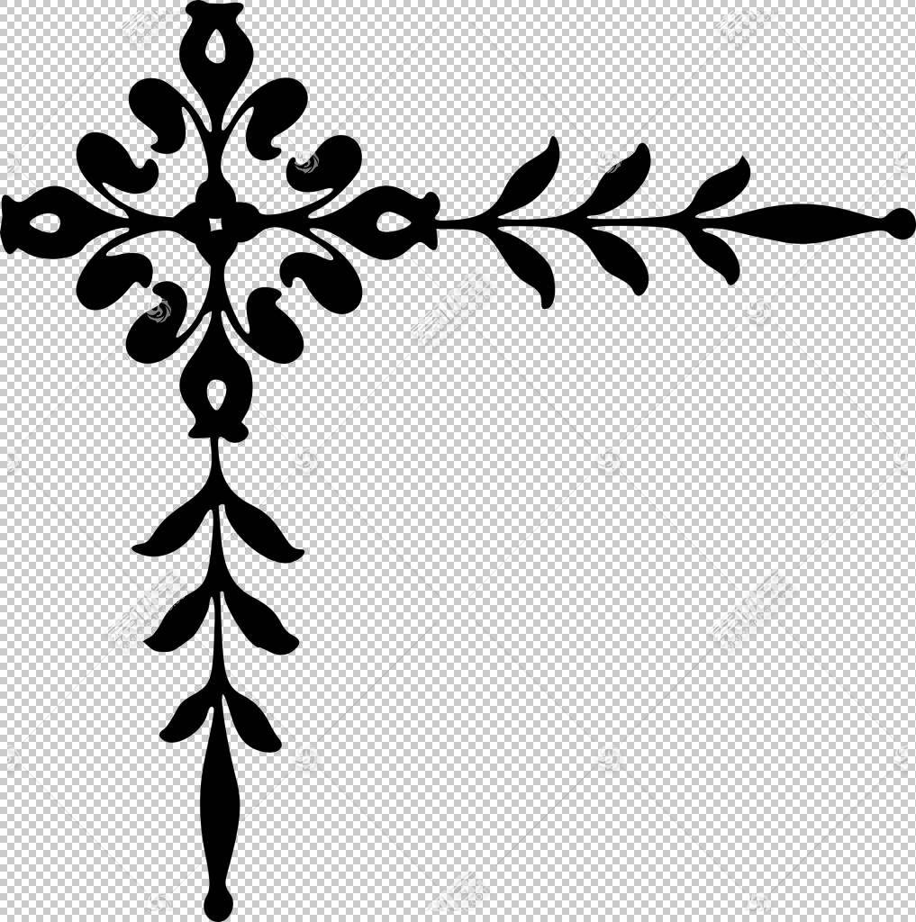装饰艺术,蕾丝寄宿生PNG剪贴画杂项,叶,分支,其他,单色,对称性,植