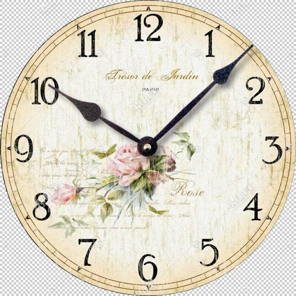 钟面破旧别致的墙壁装饰艺术,时钟PNG剪贴画装饰,图片框架,圆形,