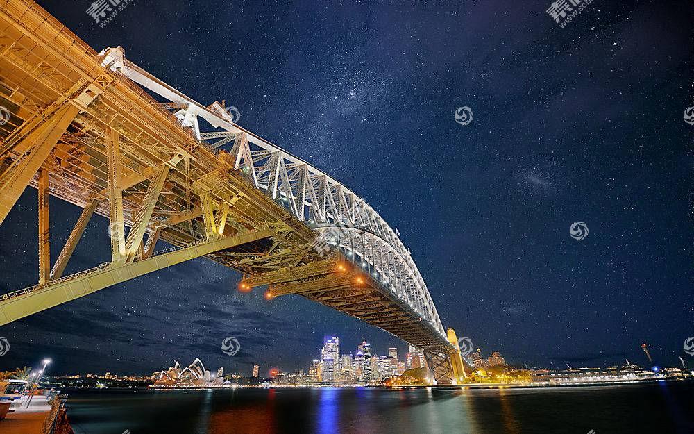 悉尼,避难所,桥梁,桥梁,桥梁,明星,悉尼,建筑物,摩天大楼,河