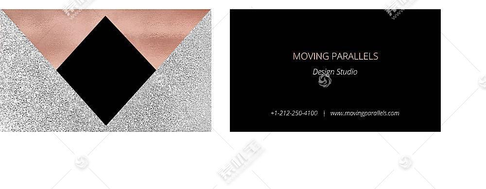 时尚简约玫瑰金主题公司企业通用个人名片模板