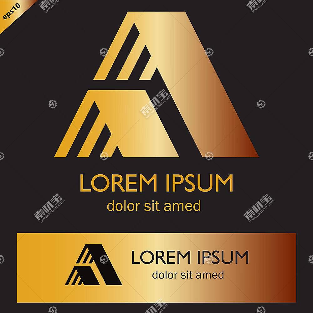 黑金大气商务企业LOGO图标设计