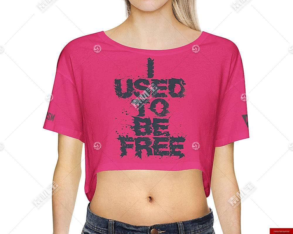 时尚女性上衣T恤服装展示样机