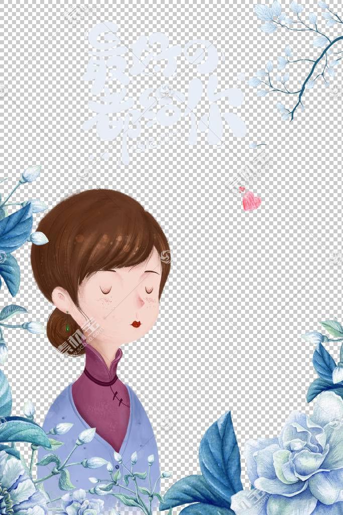 母亲节快乐主题插画行业通用免抠元素