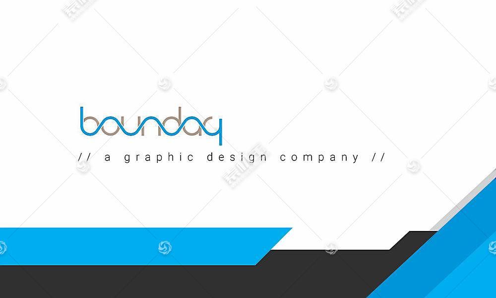 简约风格企业商务文具包文件袋设计模板