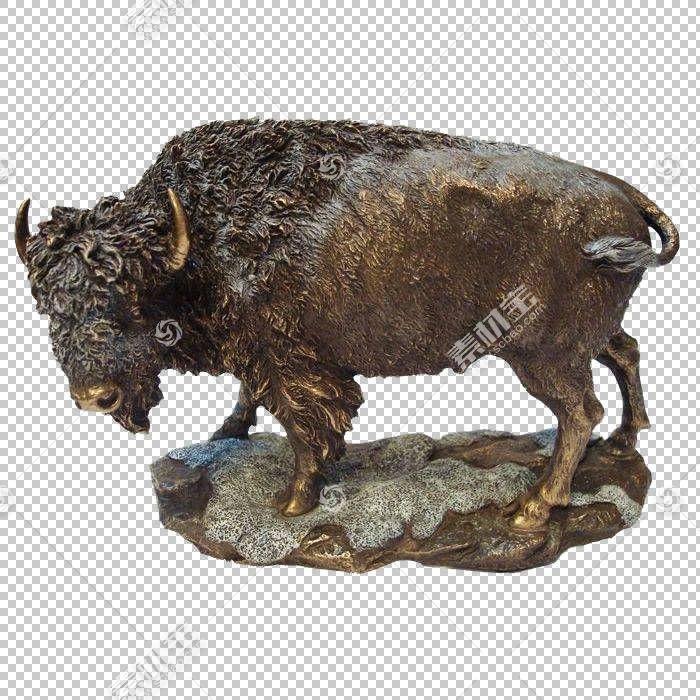 青铜雕塑金属,人工制品,鼻部,公牛,金属,美国野牛,装饰艺术,家具,