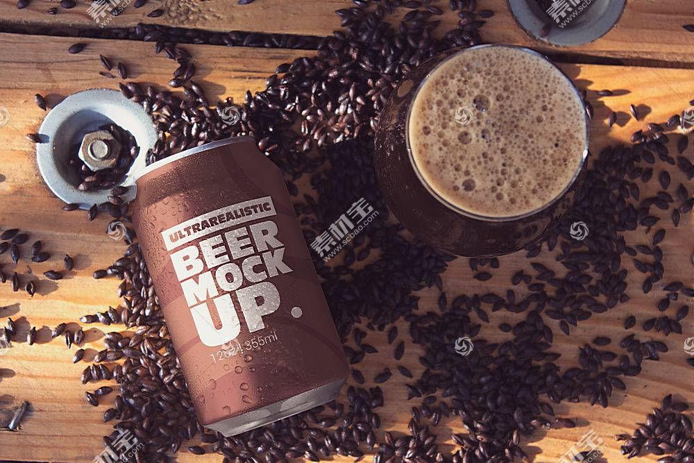 咖啡易拉罐外觀包裝智能樣機素材