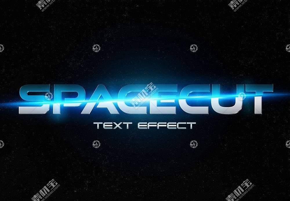 蓝光科技感主题字体设计