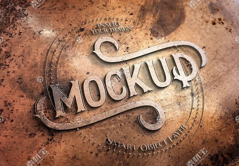 复古铜质主题字体设计