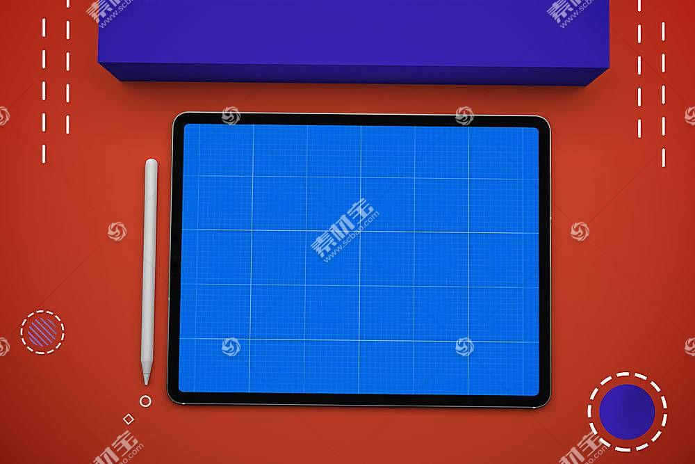 智能产品手绘板平板电脑外观展示样机素材