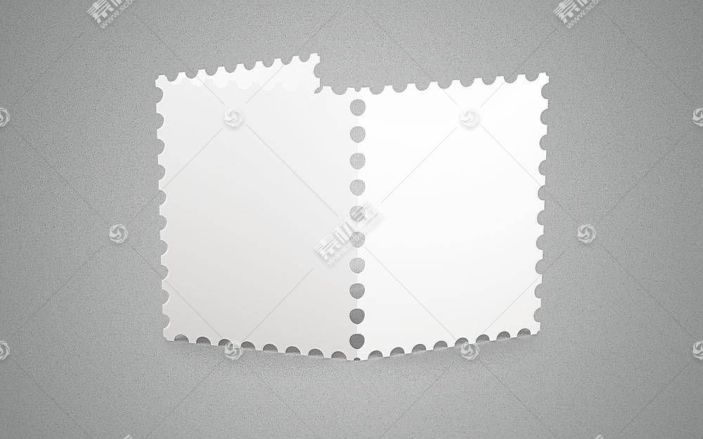高档创意简约风元素邮票样机第十个PSD文件