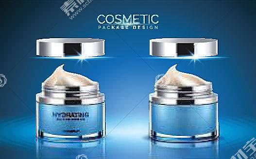 電商女性護膚品化妝品海報模板