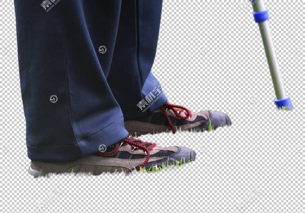 老年人行走不便的双脚