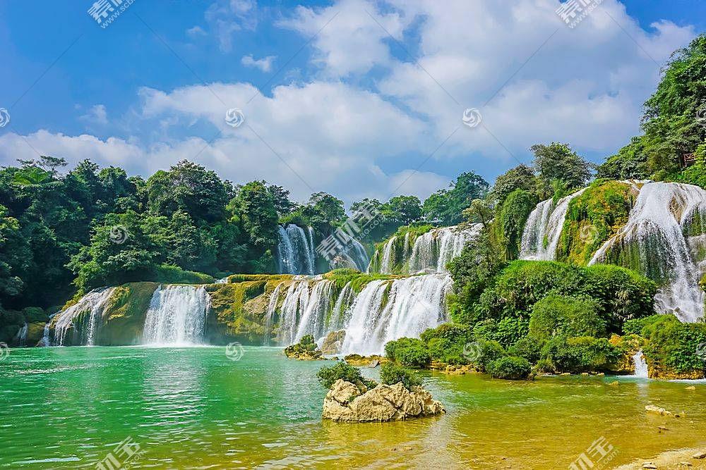 唯美景区瀑布