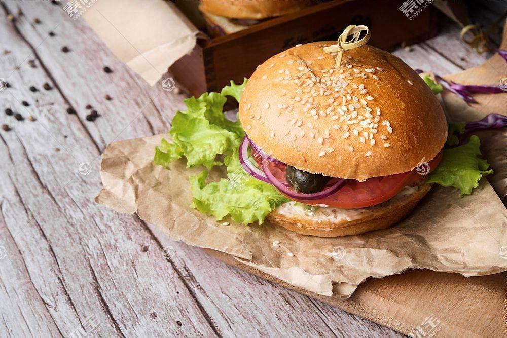 汉堡面包食物