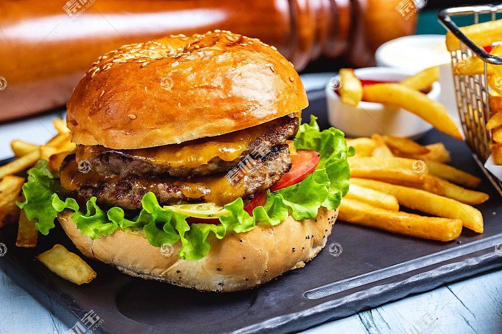 美味的营养健康汉堡包