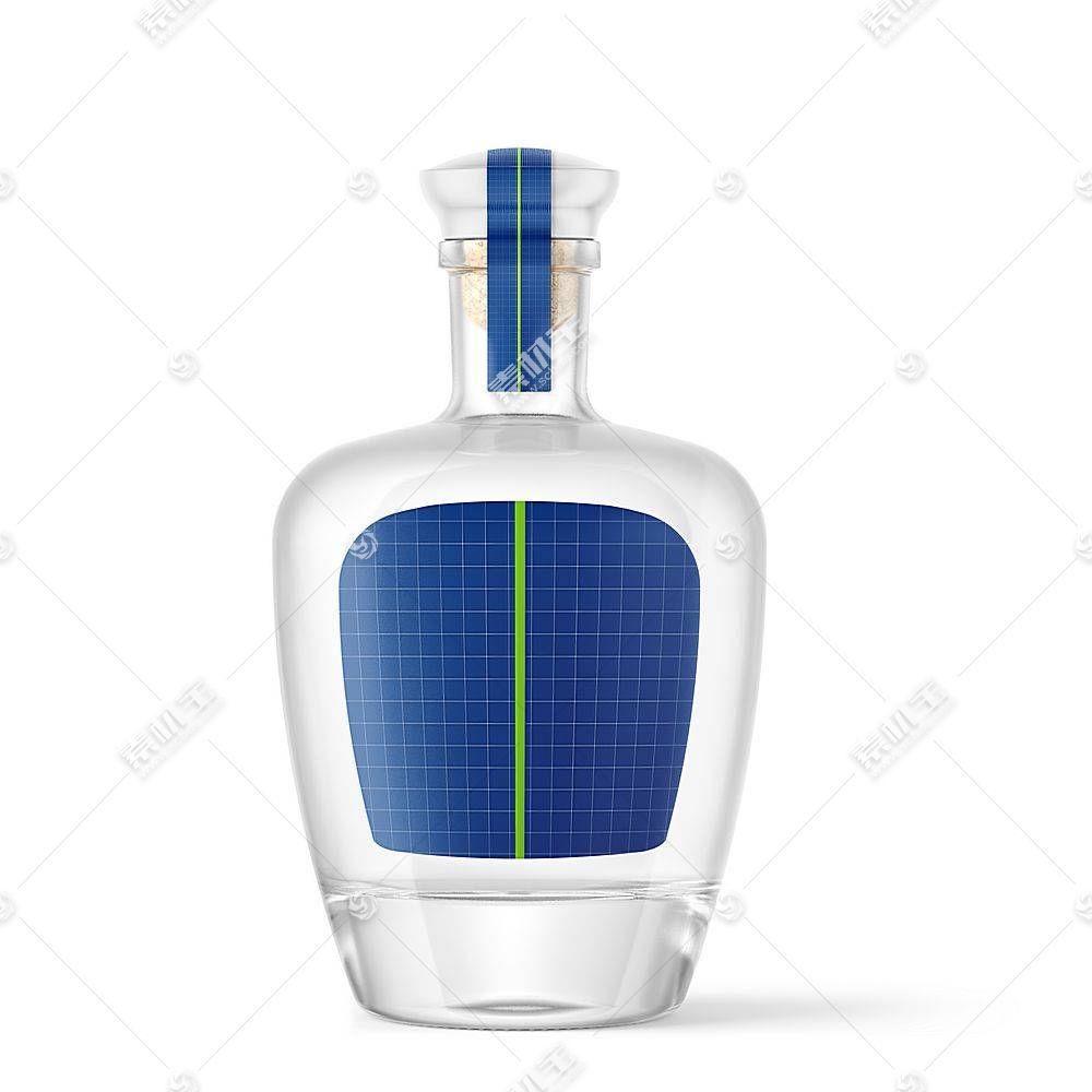 白酒酒瓶智能展示样机素材