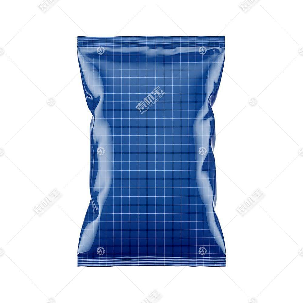 膨化食品包装袋智能展示样机素材