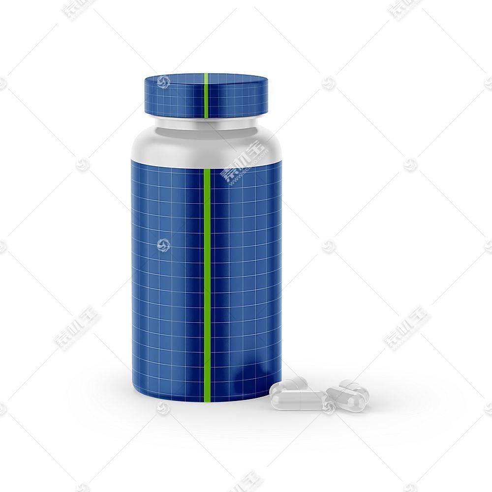西药瓶子智能展示样机素材
