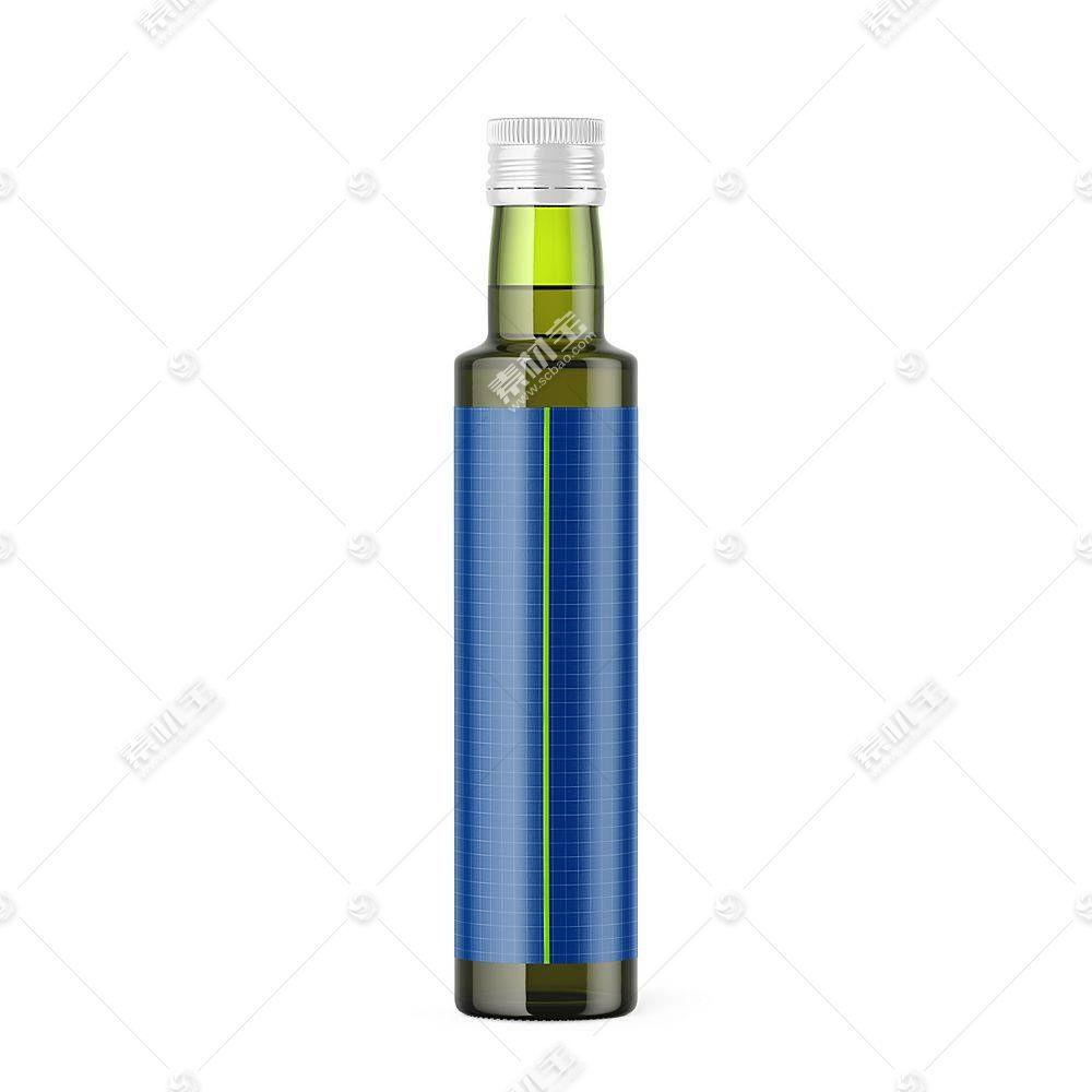 饮料玻璃瓶智能展示样机素材