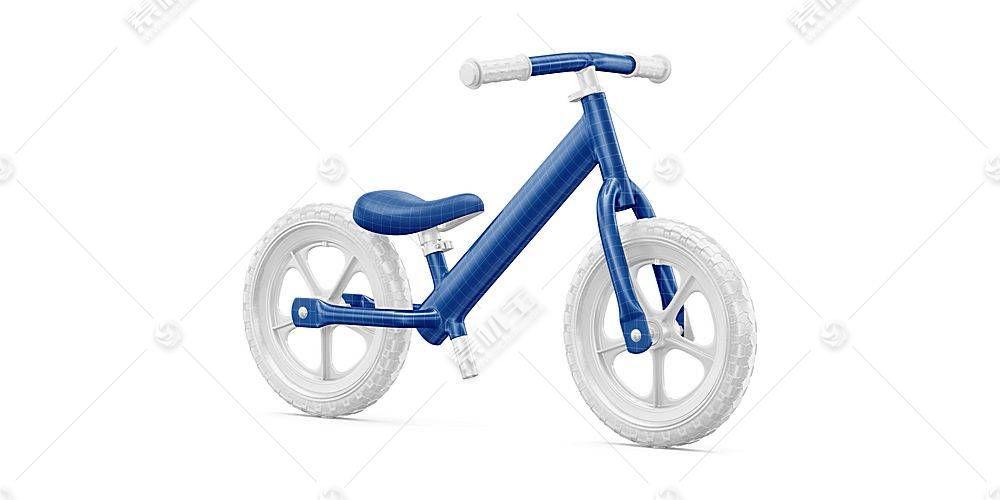 儿童自行车智能展示样机素材