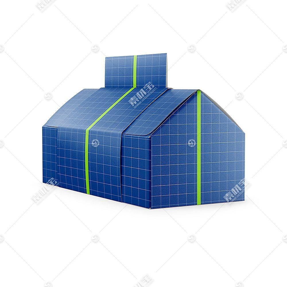 房子形礼物盒智能展示样机素材