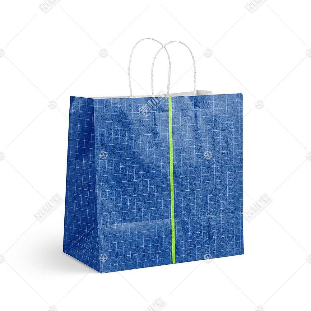 纸质购物袋子智能展示样机素材